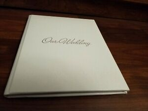 "NEW C.R. Gibson Wedding Keepsake Journal/Memory Book 9"" x 11"" Silver Embossed"