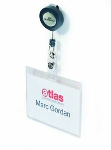 Durable Name Badge With Reel (Pack of 10) DB80000