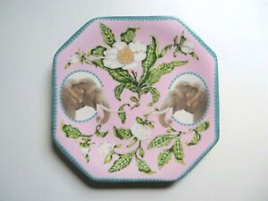 LOU ROTA FOR ANTHROPOLOGIE NATURE TABLE ELEPHANT & CAMELIA SIDE DESSERT PLATE
