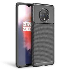 NALIA Carbon Look Handy Hülle für OnePlus 7T, Ultra-Slim Silikon Backcover Dünn