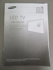 SAMSUNG LED TV SERIES 5 5200 520D USER MANUAL NEW