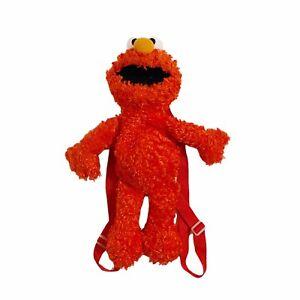 Elmo Sesame Street 2009 Plush Rucksack Backpack Bag