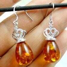 Precious Modernist amber pendant Gemstone Handmade Jewellery making earrings N6