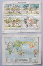 Sammlung Weltkarten, Globen - Klima, Verkehr, Geschichte u.a. 13 Blatt