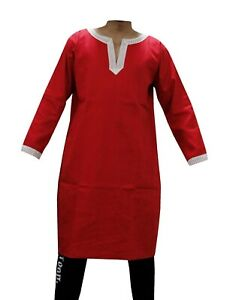 Aljanna Medieval/Renaissance Men's Red Roman Tunic Full Sleeves