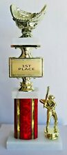 "Coach's Baseball Glove Trophy - Male or Female - 16"" Tall - Free Engraving"