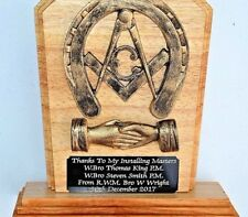 MASONIC TROPHY PLAQUE SUPERB QUALITY INSTALLING MASTER GIFT FOR ANY OCCASION