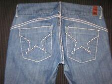 Peoples Liberation Slim Bootcut Jeans Star Pockets Sz 27 - Fit like Sz 28 / 29