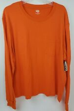 Open Trails Men's 2XL Safety Orange Long Sleeve Crew Neck Pocket T-Shirt Tee