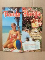 1956 See All of Florida Vintage Travel Brochure FL Vacation Attractions Trip