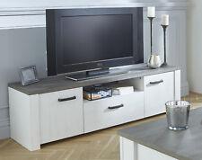 Mesa TV 1 cajon 2 puertas 1 hueco color pino andersen y roble prata 148 cm ancho