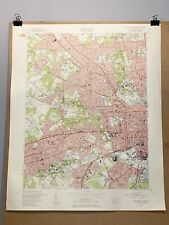 Baltimore West Maryland County Map Topographical Catonsville Cherry Ten Hills