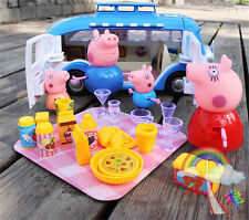 Peppa Pig Toys Peppa's Out Touring Picnic Camping Car Peppar Pig Blue Car Baby