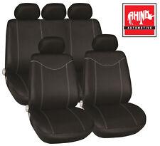 TOYOTA PRIUS HATCHBACK 04-09 LUXURY SEAT COVER SET BLACK & GREY PIPING