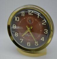Vintage Ingraham Luminous Wind Up Alarm Clock - WORKS