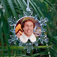 Buddy The Elf Movie Snowflake Colored Blinking Holiday Christmas Tree Ornament
