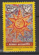 Timbre français oblitéré  aimer accueillir YT 3255 année 1999