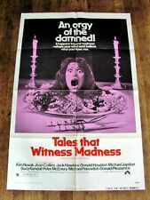 TALES THAT WITNESS MADNESS Orig HORROR Movie Poster JACK HAWKINS DONALD HUSTON