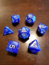 Golden Azurite Dice Set 7 Dice Set Polyhedral DND Dungeons & Dragons Pathfinder