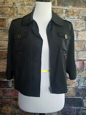 Ann Taylor Women's Small Black Lightweight Cropped Moto Jacket