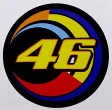 Valentino Rossi 46 TONDO e luna adesivo stickers Vale MOTOGP adesivi