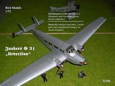 """Junkers G 31 """"Urversion""""            1/72 Bird Models Resinbausatz / resin kit"""