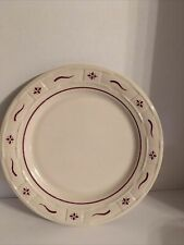 Longaberger Luncheon Plate - Traditional Red - Nib