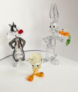 Swarovski Warner Brothers Sylvester Bugs Bunny Tweety Looney Tunes Set Neu New