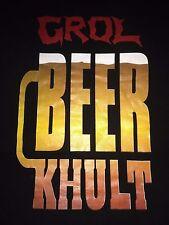 Grol Beer Khult Cult Vintage T-Shirt True Stench Never Dies Gore Metal Grindcore