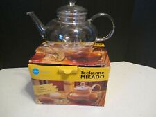 Jenaer Glas Mikado Teapot glass made in Germany Lid and Infuser