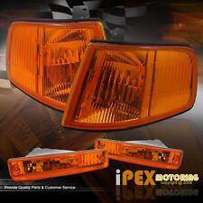 1990-1991 Honda CRX Hatchback JDM Amber Corner Signal Lights+Bumper Signal Light