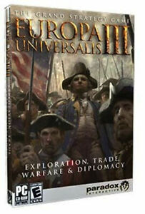 LOT 16  Europa Universalis III  New Factory Sealed with large written manual