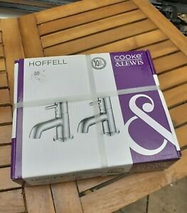 Boxed Sealed and Unused Cooke and Lewis Hoffell Bath Pillar Taps