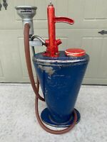 Vintage Alemite Grease Lube Pump Gear Oil Gauge Can Dispenser Hand Crank 3680