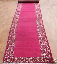 Traditional Vintage Wool Handmade Classic Oriental Area Rug Carpet 605 X 89 cm