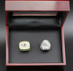 A Set Baltimore Ravens 2000 2012 Championship Rings With Wooden Display Case