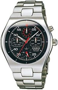 Casio Edifice Retrograde Chronograph Black Dial Men's Stainless Steel Watch