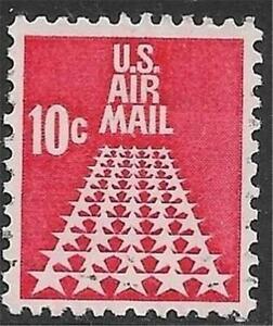 1v0199 Scott C72 US Air Mail Stamp 1968 10c 50 Stars Used