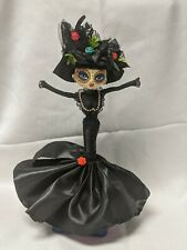 """Colombia Hand Made DIVA or WITCH DOLL Día de Muertos style 12"""""""