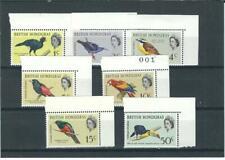 BRITISH HONDURAS 1967 MNH BIRDS SET SEE
