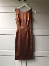 Dolce Gabbana Copper Silk Mini Dress Size 40