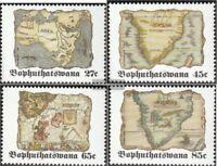 Bophuthatswana 273-276 (kompl.Ausg.) postfrisch 1992 Alte Landkarten Afrikas