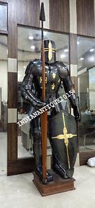 Full Suit of Armor Medieval Dark Knight Wearable Halloween Costume
