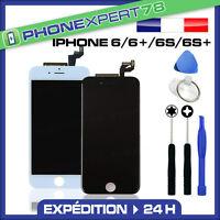 ECRAN LCD SUR CHASSIS + VITRE TACTILE IPHONE 6 / 6+ / 6S / 6S+ NOIR BLANC