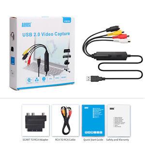 VHS VCR to Digital Converter Video Capture, MiniDV Hi8 DVD to Computer - VGB350