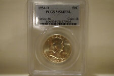 1954-D PCGS MS64 FBL Franklin Half Dollar #2 (Series 46 / Coin 18)