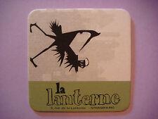 Older BEER Coaster ~*^*~ La Lanterne Microbrasserie ~ Strasbourg, France Brewery