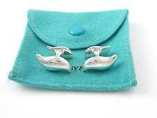 Tiffany & Co Silver Peretti Feather Wave Cuff Links Cuff Link Cufflinks!