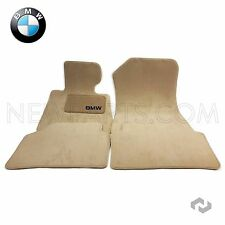 BMW E90 328i 335d Set of 4 Front and Rear Carpeted Beige Floor Mat Set Genuine