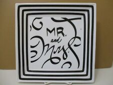 "The Dish Ltd Mr & Mrs Square Plate 10 1/2"" 0409B"